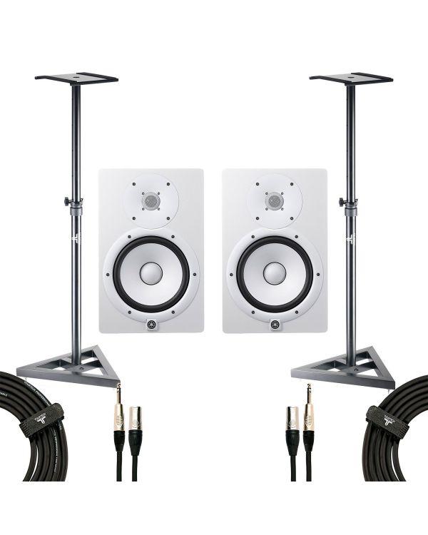 Yamaha HS8 Studio Monitor White Studio Pack