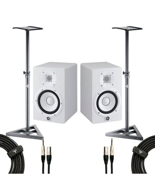 Yamaha HS7 Studio Monitor White Studio Pack