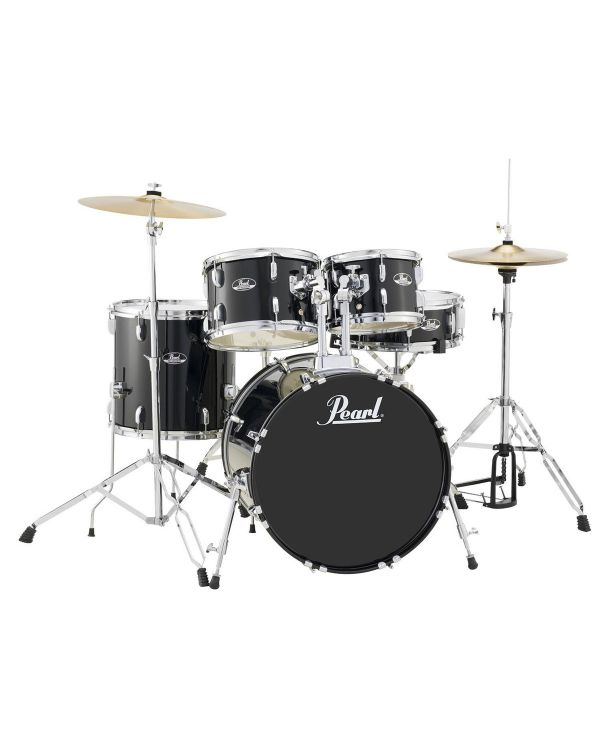 Pearl Roadshow 5-Pc Junior Drum Kit, Jet Black with Hardware & Cymbals