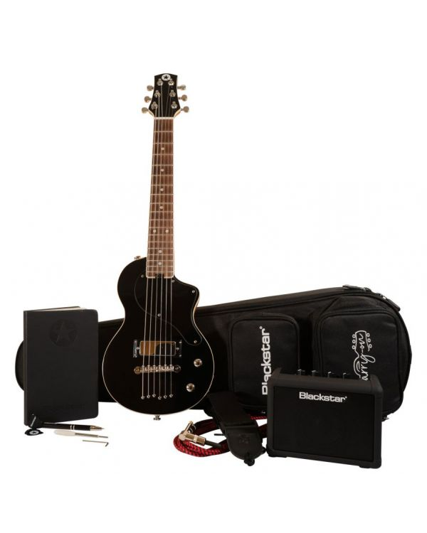 Carry-On by Blackstar Deluxe Travel Guitar Pack Black