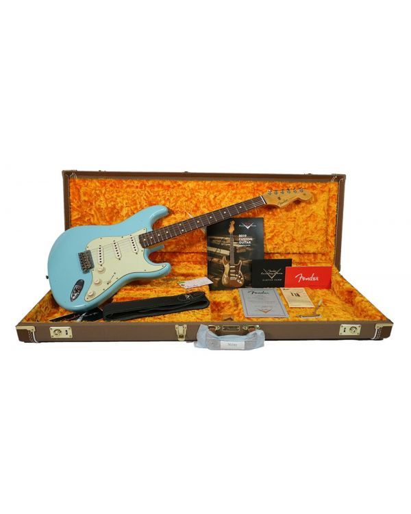 Fender Custom Shop 62 Strat Journeyman Relic RW, Daphne Blue