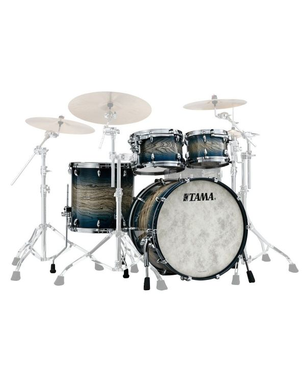 "Tama Star Walnut 22"" 4-Piece Shell Pack. Indigo Japanese Sen Burst"