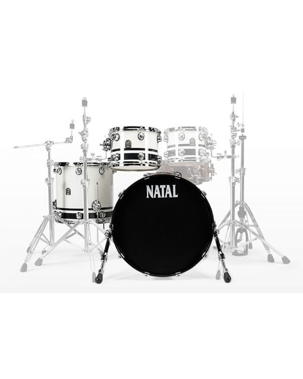 Natal Cafe Racer Shell Pack Bundle, White and Black Split