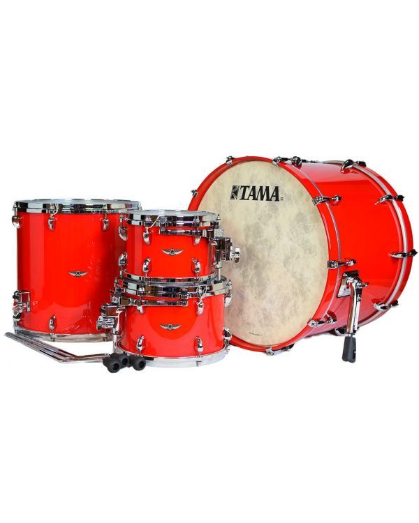 "Tama Star Walnut 22"" 4-Piece Shell Pack in Solid Candy Red"