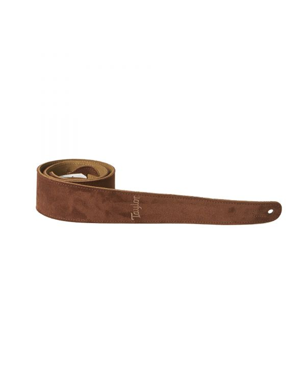 Taylor TS250-05 Suede Guitar Strap, Chocolate Brown