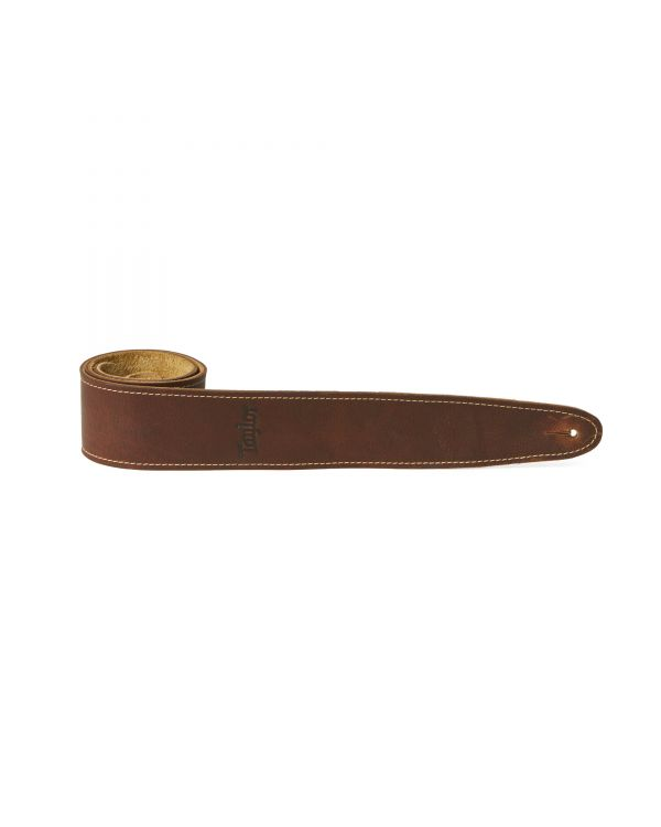 Taylor TL250-03 Leather Suede Guitar Strap, Medium Brown