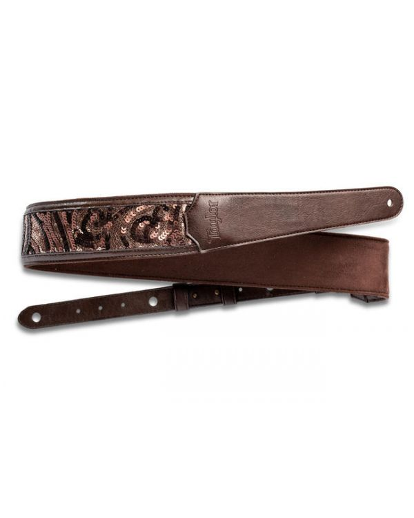 "Taylor  2.25"" Guitar Strap Vegan Leather, Chocolate Brown"