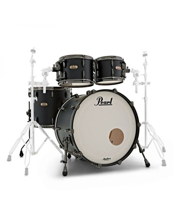 Pearl Masters Maple Reserve 4-Piece Shell Pack in Solid Matte Black