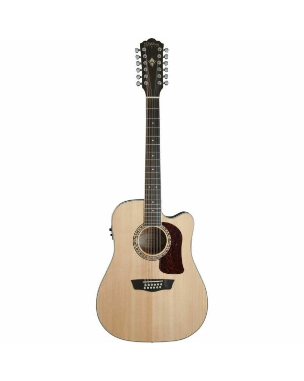 Washburn HD10SCE-12 String Electro Acoustic Guitar in Natural