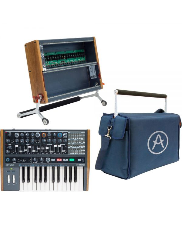 Arturia Minibrute 2 Bundle with RackBrute 6U Case & Travel Bag