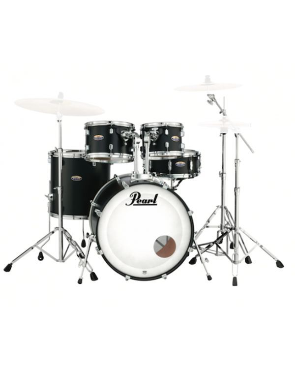 Pearl Decade Maple 5-Piece Shell Pack 22 in, Satin Slate Black