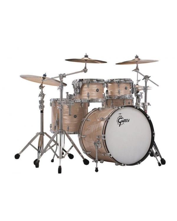 Gretsch USA Brooklyn 4 Piece Shell Pack, Cream Oyster