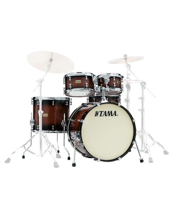 Tama SLP Dynamic Kapur 4-Piece Shell Pack, Gloss Black Kapur Burst