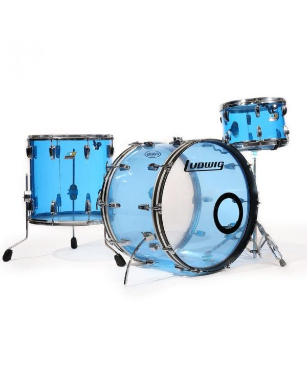 Ludwig Vistalite 3-Piece Pro Beat Drum Set Shell Pack Blue