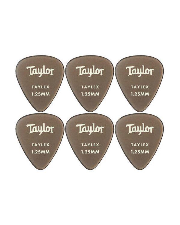 Taylor 351 Guitar Picks Smoke Grey Taylex 1.25mm (6-Pack)