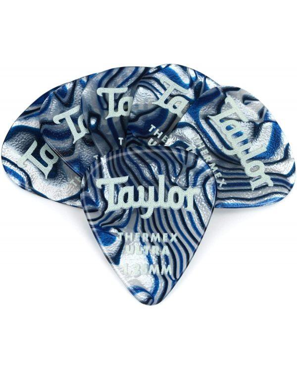 Taylor Darktone 351 Guitar Picks Blue Swirl, 1.25mm (6-Pack)