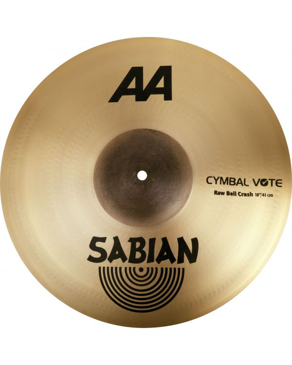 "Sabian AA 20"" Raw Bell Crash Cymbal"