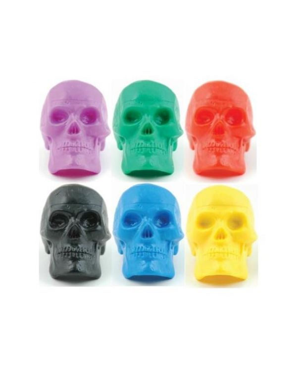 Bead Brain Skull Shaker, Each, Assorted Colours