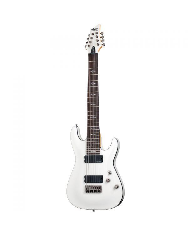 Schecter Demon 8 String Guitar in Vintage White