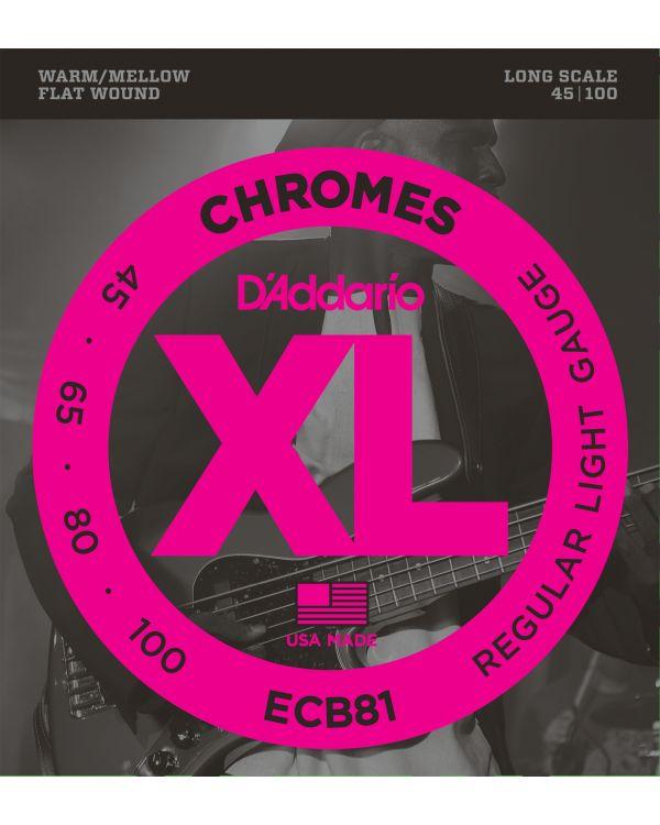 D'Addario ECB81 Chromes Bass Guitar Strings,Light 45-100 Long Scale