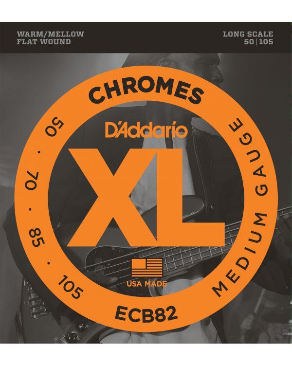 D'Addario ECB82 Chromes Bass Guitar Strings,Medium 50-105 Long Scale