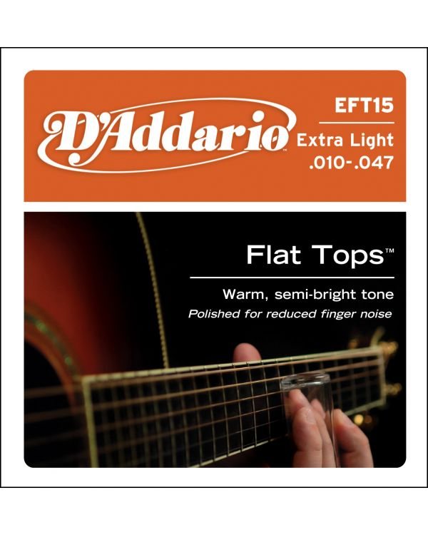 DAddario EFT15 Flat Tops Phosphor Bronze Acoustic Guitar Strings Extra Light