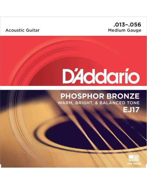 DAddario EJ17 Phosphor Bronze Acoustic Guitar Strings - Medium 13-56