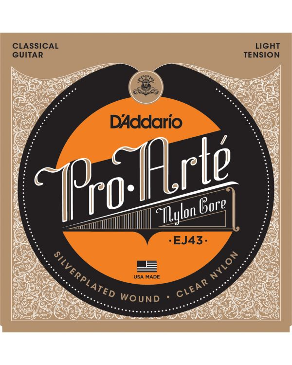 D'Addario EJ43 Pro-Arte Nylon Classical Guitar Strings,Light Tension