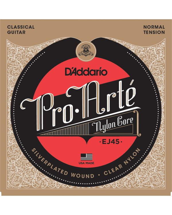 DAddario EJ45 Pro-Arte Nylon Classical Guitar Strings, Normal Tension