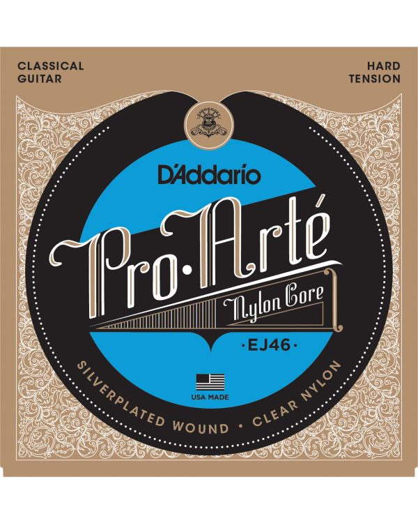 D'Addario EJ46 Pro-Arte Nylon Classical Guitar Strings,Hard Tension