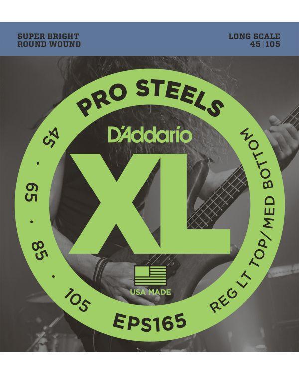 DAddario EPS165 ProSteels Bass Strings Custom Light 45-105 Long Scale