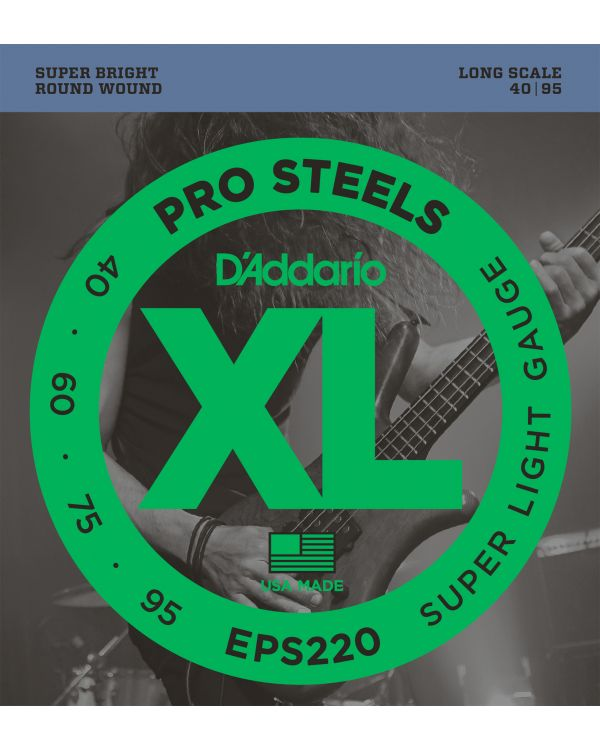 DAddario EPS220 ProSteels Bass Strings Super Light 40-95 Long Scale