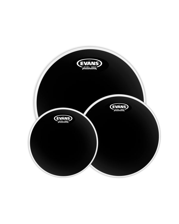 Evans Black Chrome Tompack, Rock (10 inch, 12 inch, 16 inch)