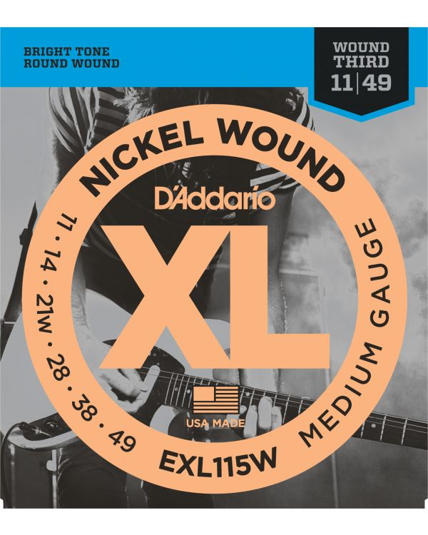 DAddario EXL115 Nickel Wound Electric Guitar Strings Medium
