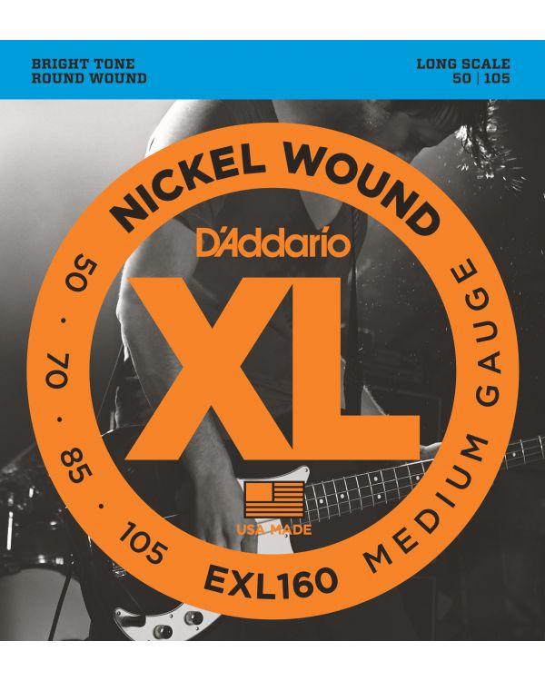 DAddario EXL160 Nickel Bass Guitar Strings Medium 50-105 Long Scale