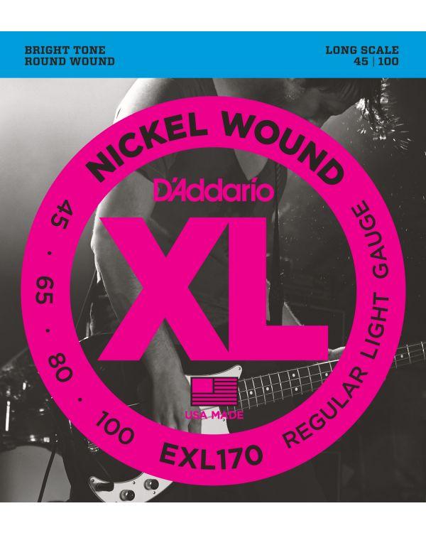 DAddario EXL170 Nickel Bass Guitar Strings Light 45-100 Long Scale