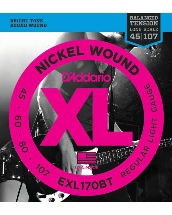 DAddario EXL170BT Bass Guitar Strings Balanced Tension Light 45-107