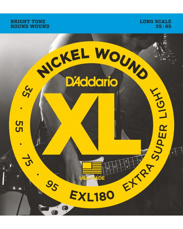 DAddario EXL180 Bass Guitar Strings Extra Super Light 35-95 Long Scale