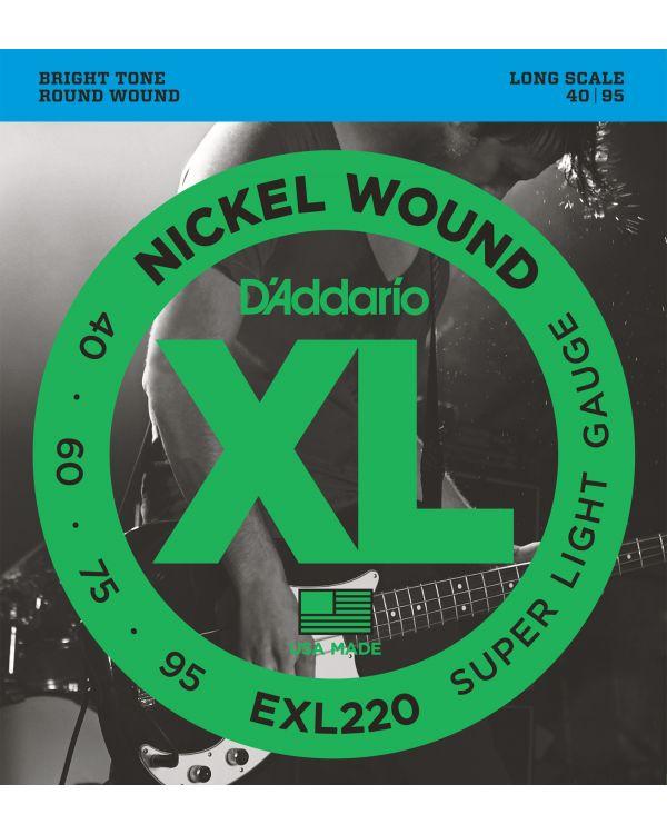 DAddario EXL220 Bass Guitar Strings Super Light 40-95 Long Scale