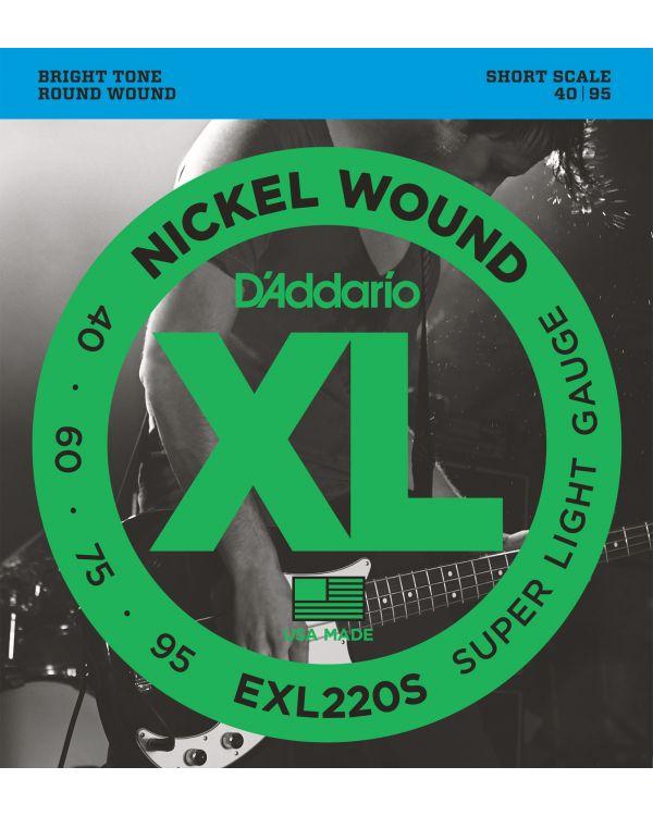 DAddario EXL220S Bass Guitar Strings Super Light 40-95 Short  Scale