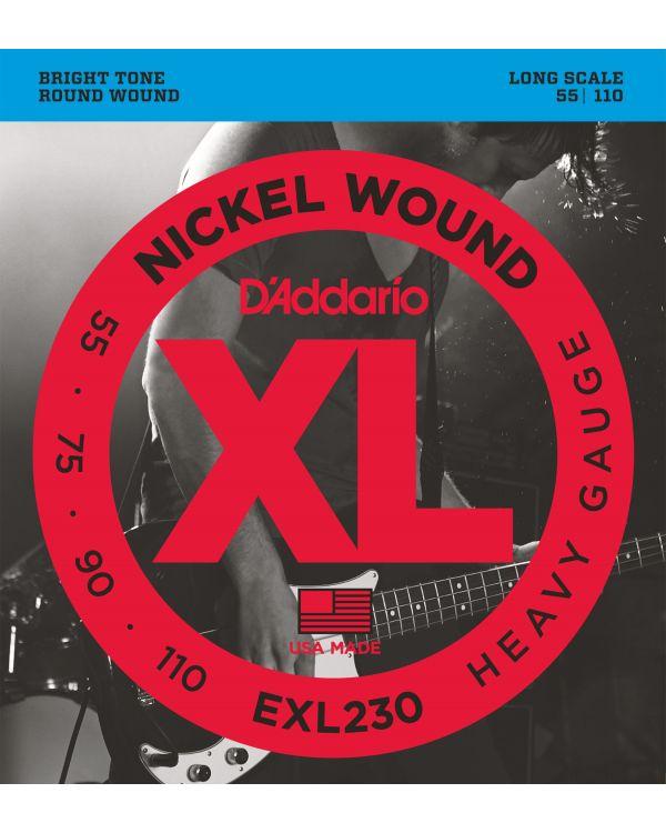 DAddario EXL230 Wound Bass Guitar Strings, Heavy, 55-110, Long Scale
