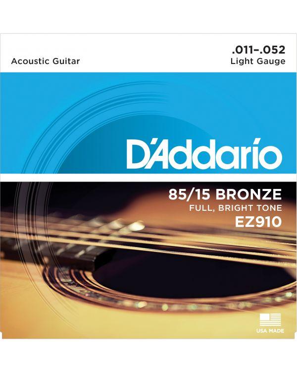 DAddario EZ910 85/15 Bronze Acoustic Guitar Strings, Light, 11-52