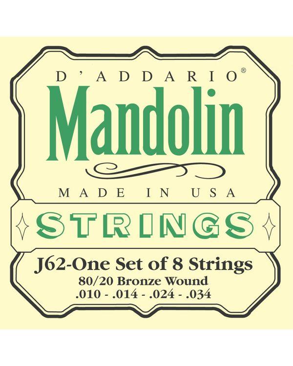 D'Addario J62 80/20 Bronze Mandolin Strings,Light