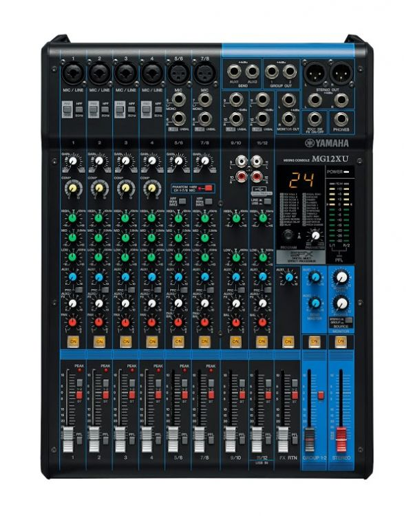 Yamaha MG12XU 12 Channel Mixing Desk with USB