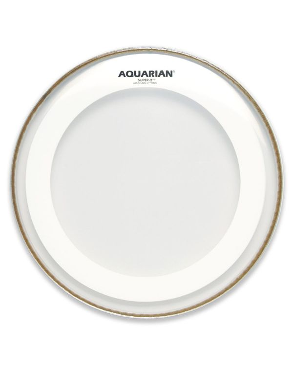 "Aquarian Super-2 Clear 16"" Drum Head"