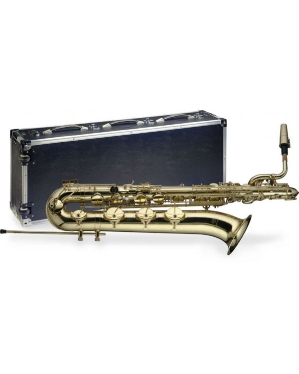 Stagg Baritone Saxophone in Eb with Flight Case