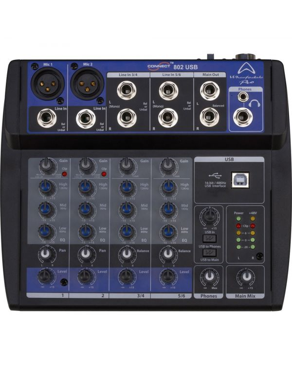 Wharfedale Connect 802 USB 8 Channel Mixing Desk