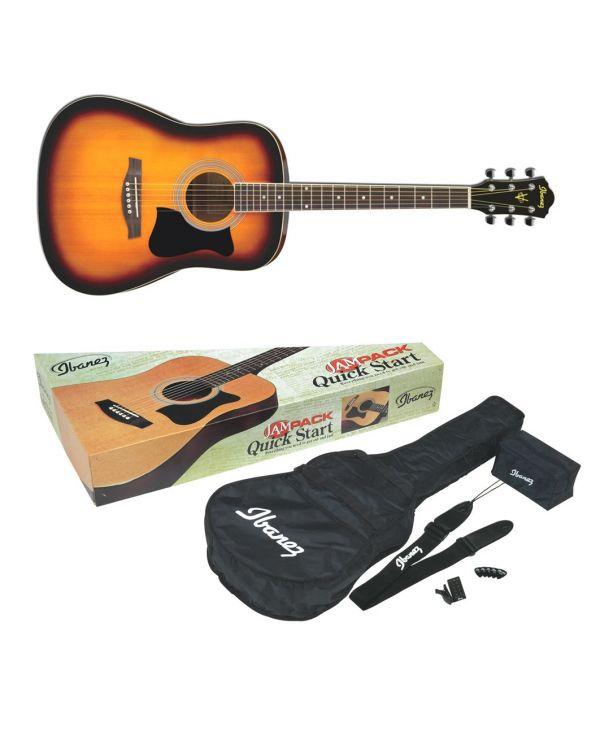 Ibanez V50NJP Acoustic Guitar Jampack in Vintage Sunburst