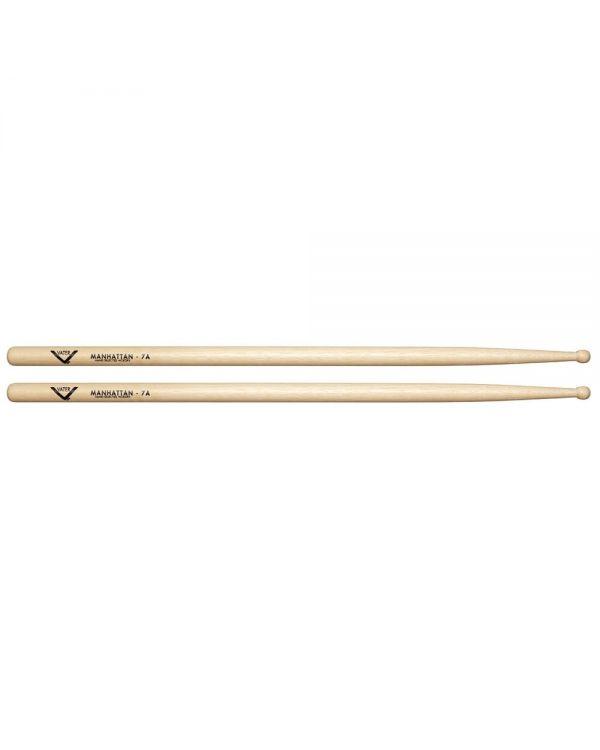 Vater 7A Wood Tip Manhattan Hickory Drum Sticks