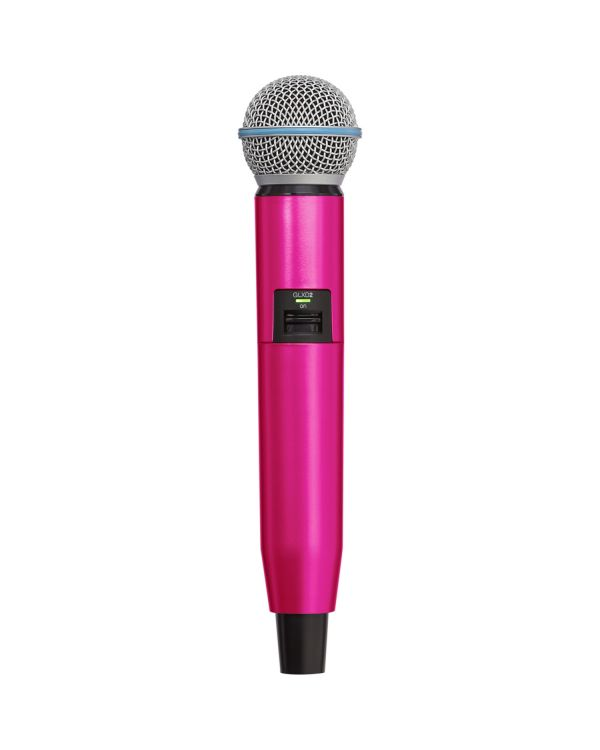 Shure GLX-D SM58-BETA58A Handle in Pink